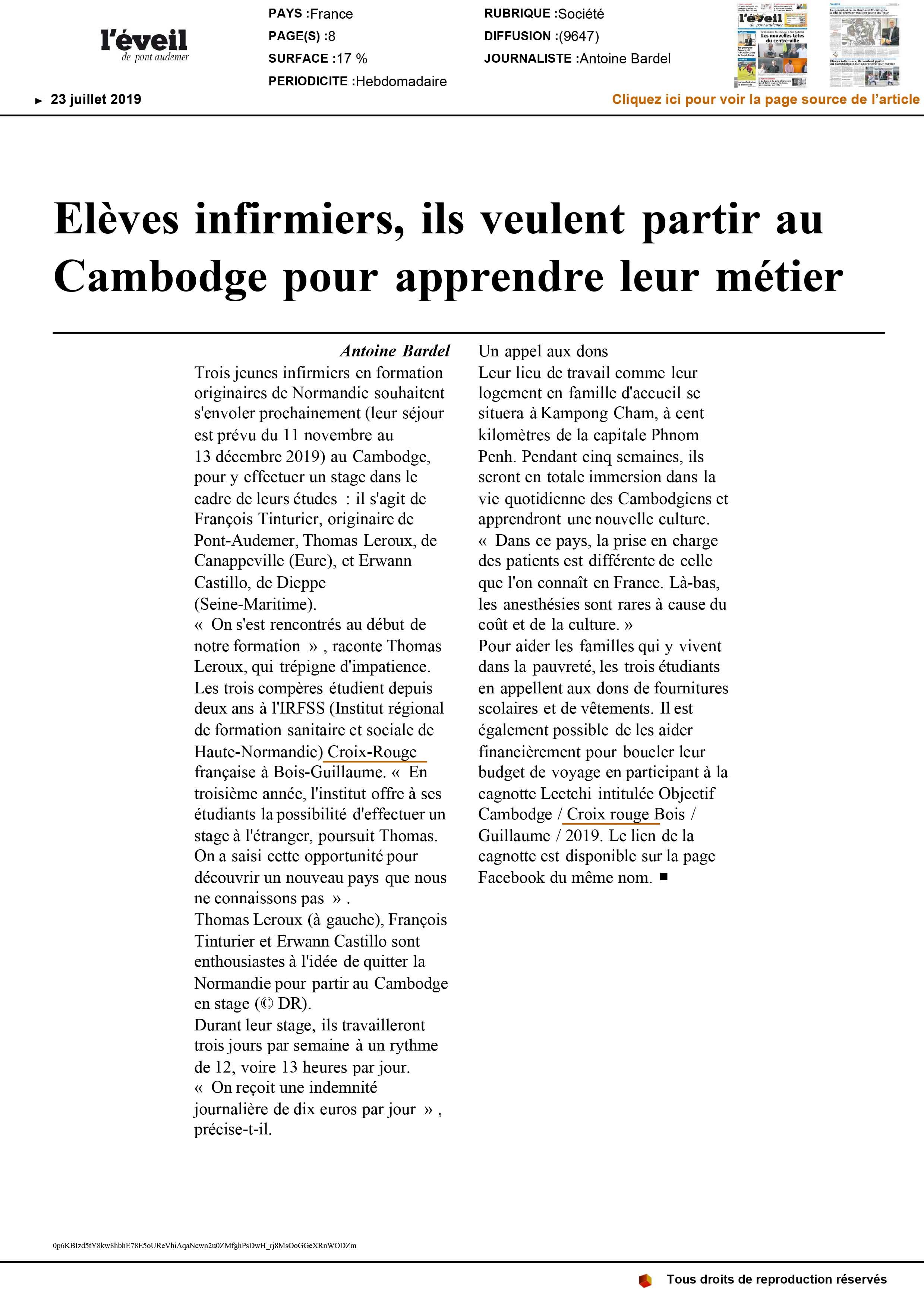 Revue De Presse Delegation Territoriale De L Eure Croix